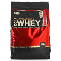 Протеин Optimum nutrition 100% Whey Gold Standard, клубника, 4540 г