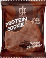 FIT KIT Protein Chocolate Cookie, двойной шоколад, 50 г