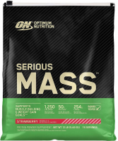 Гейнер Optimum nutrition Serious Mass, клубника, 5450 г